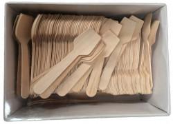 Houten ijslepels, 100 stuks