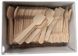 Houten ijslepels, 300 stuks