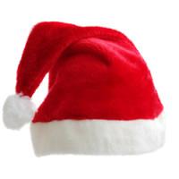 Kerstmuts - Rood met wit - 12 stuks