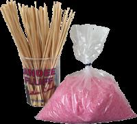 Suikerspin Combinatiepakket - Gekleurde Mix voor 300 suikerspinnen (incl. stokjes)